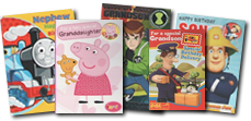 Ben 10, Pepper Pig, Hello Kity, Postpan Pat, Fireman Sam and Thomas the Tank Engine Character cards from 49p