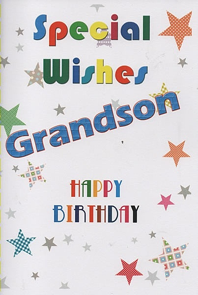 Male Relation Birthday Cards Special Wishes Grandson Happy Birthday – Birthday Greetings Grandson