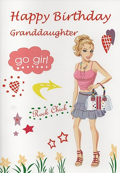 Female Relation Birthday Cards Happy Birthday Granddaughter