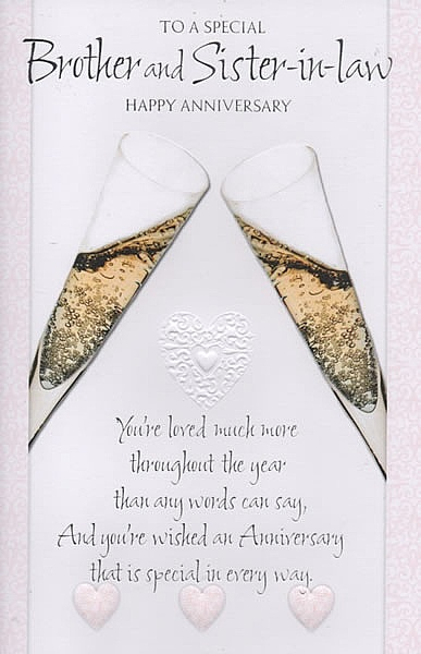 Wedding Anniversary Gift For Sister In Law : ... -in-Law, To A Special Brother And Sister-in-Law Happy Anniversary