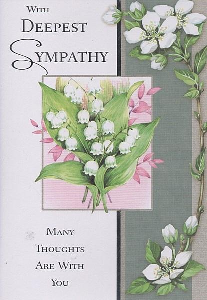 Sympathy Cards - With Deepest Sympathy