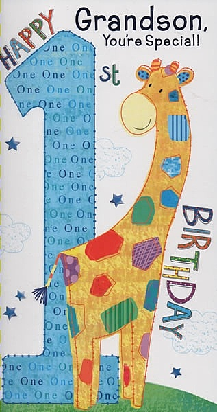 Male Relation Birthday Cards Grandson Youre Special Happy 1st