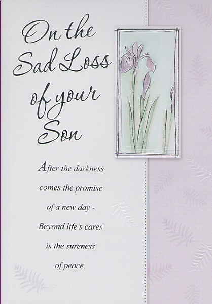sympathy cards on the sad loss of your son