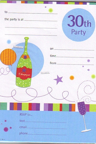 How to write a 30th birthday party invitation