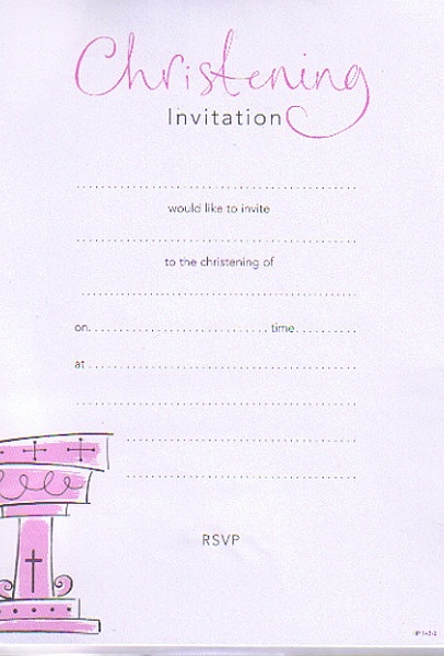 Invitations Christening Invitation
