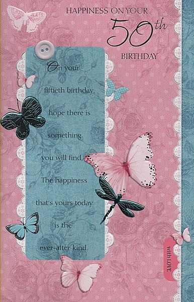 Birthday Age Cards Happiness On Your 50th Birthday