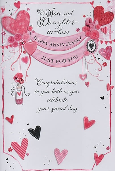 Family anniversary cards for you son and daughter in
