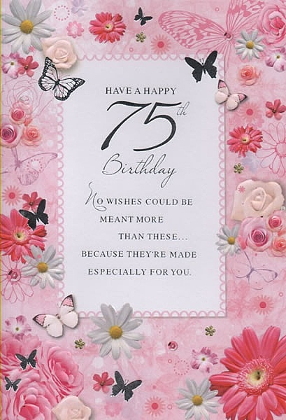 Birthday Age Cards Have A Happy 75th Birthday