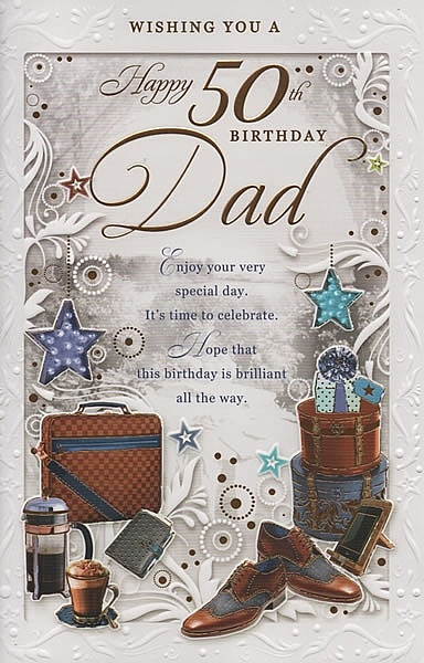 Birthday Cards Male Relation Dads Age Wishing You A