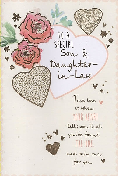 family anniversary cards to a special son daughter in law