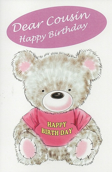 Female relation birthday cards dear cousin happy birthday birthday cards female relation birthday cards female cousin dear cousin happy birthday m4hsunfo