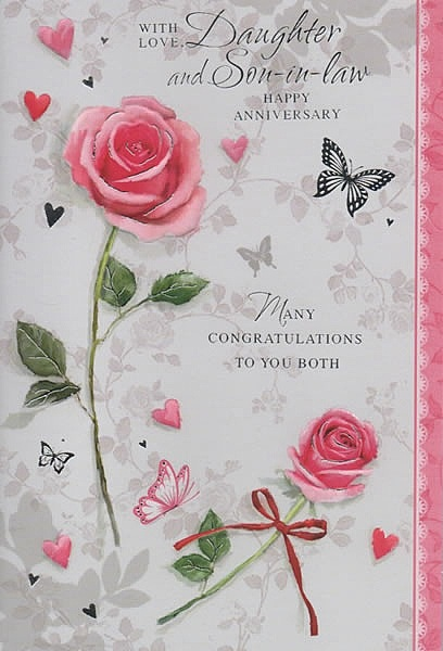 family anniversary cards  with love daughter and sonin