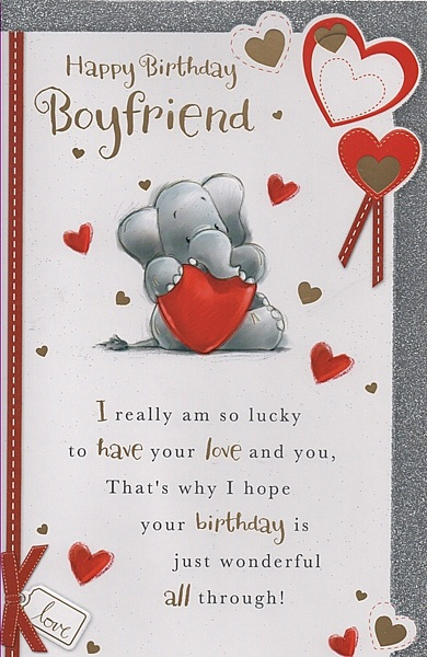 male relation birthday cards  happy birthday boyfriend