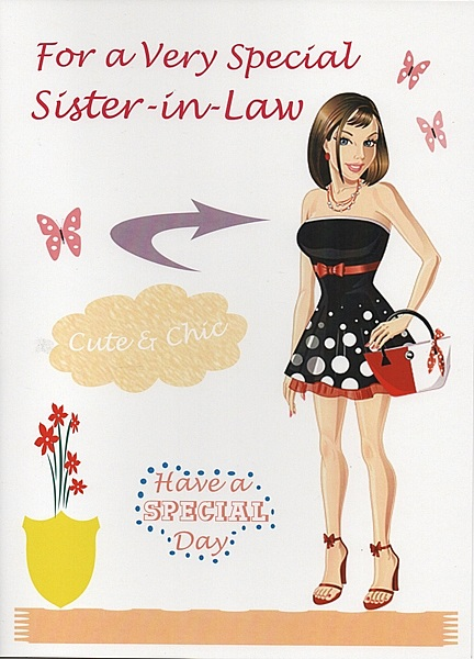 Birthday Cards Female Relation Sister In Law For A Very Special