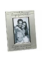 Silver Plated Engagement Photo Frame for 6