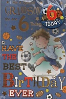 For A Special Grandson You Are 6 Today (Badge Card)