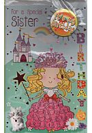 For A Special Sister It's My Birthday (Badge Card)