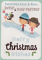 Christmas Love & Hugs Sister & Your Partner