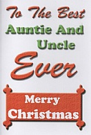To The Best Auntie And Uncle Ever Merry Christmas
