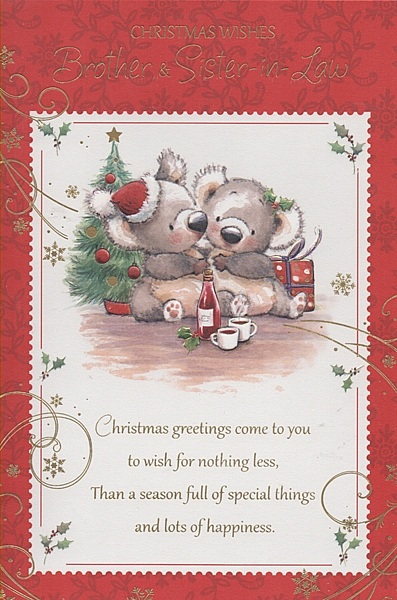 Family Christmas Cards - Christmas Wishes Brother & Sister-in-Law