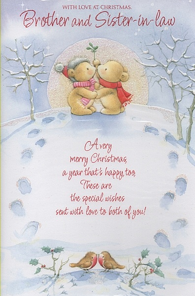 Family Christmas Cards - With Love At Christmas, Brother And Sister-in-Law